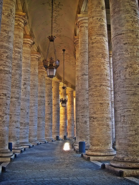 bernini's colonnade, st, peter's square