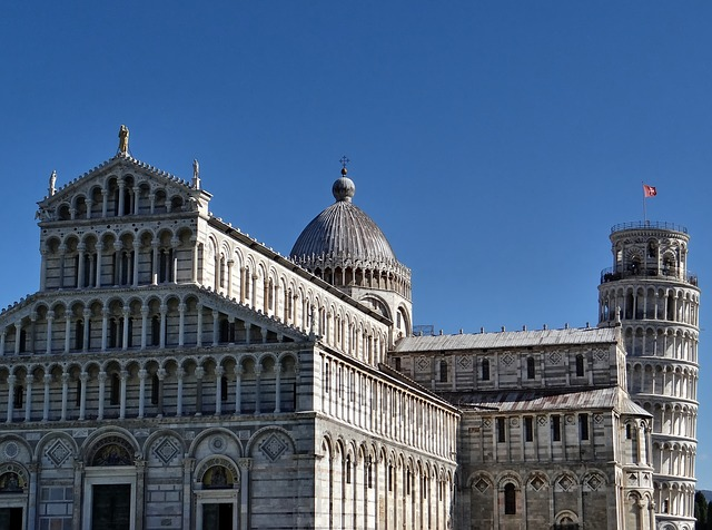 pisa, leaning tower, dom