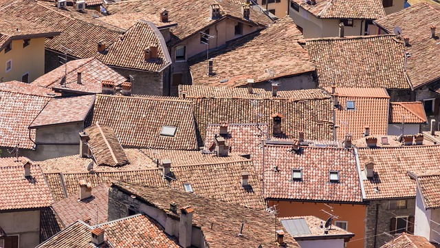 roofs, homes, old town