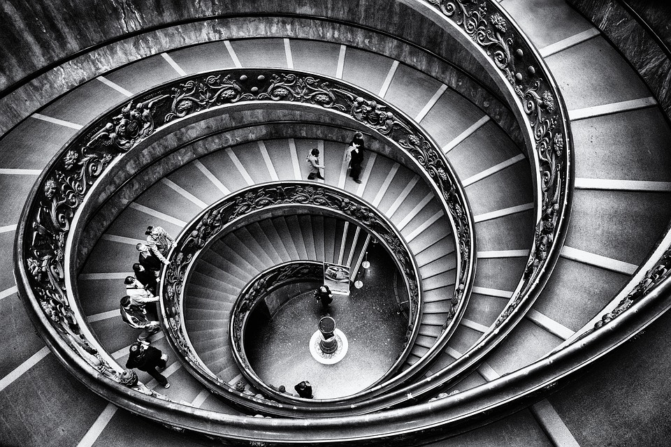 vatican, staircase, graphics