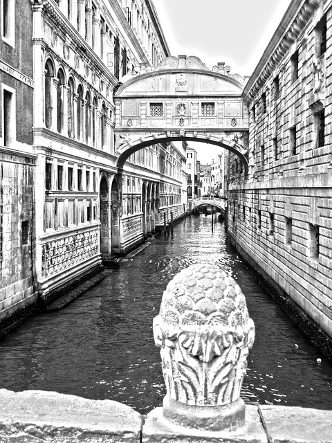 venice, bridge of sighs, bridge