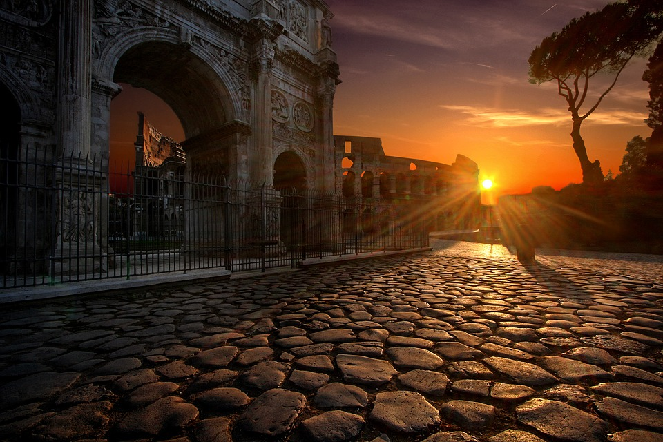arch of constantine, colosseum, rome