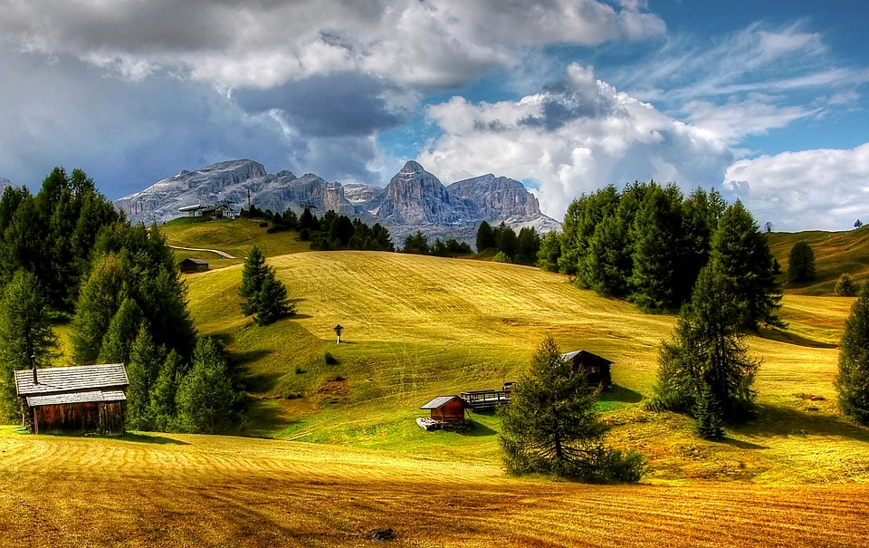 dolomites, sella, mountains