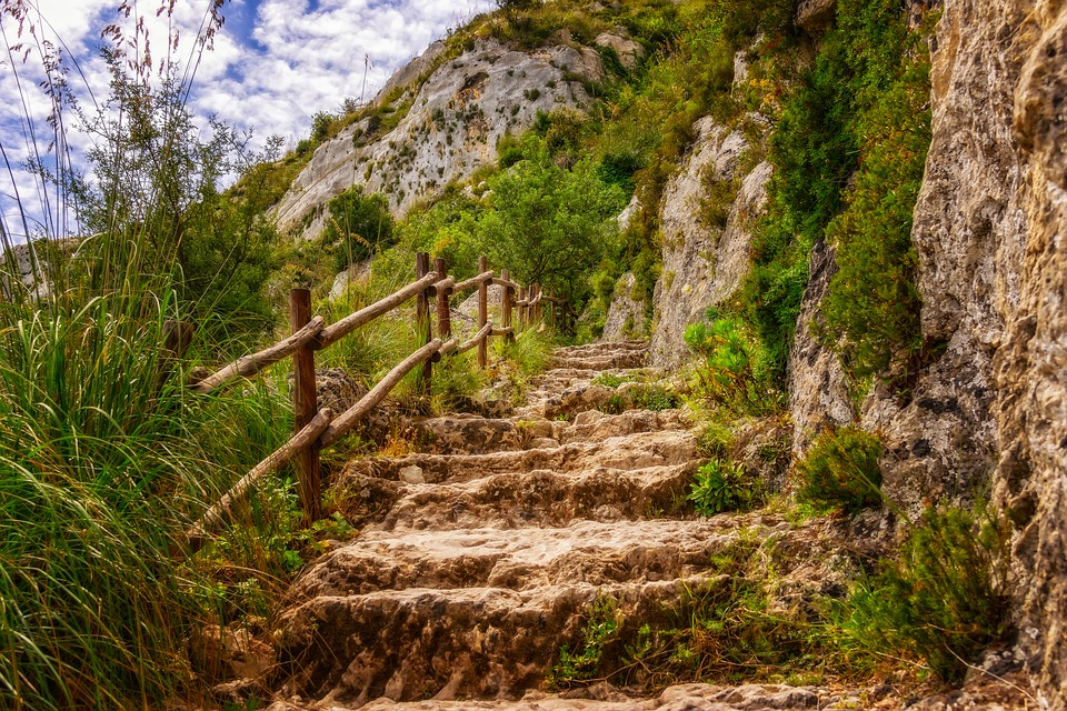 hiking, trail, sicily