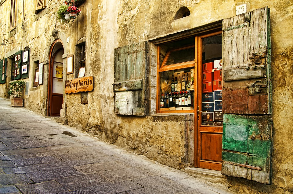 italy, tuscany, old houses