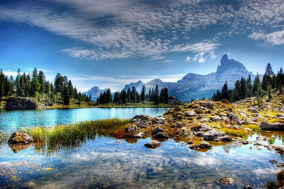 lago federa, dolomites, mountains