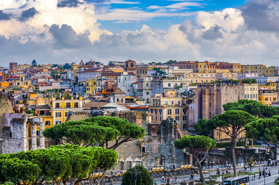rome, houses, italy